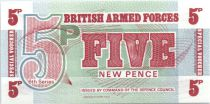 Reino Unido 5 New Pence - Impresión BWC - 1972