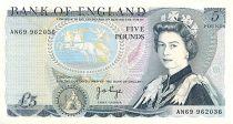 Reino Unido 5 Pounds Elisabeth II - Duke of Wellington