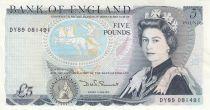 Reino Unido 5 Pounds Elisabeth II ND1987 Sign Sommerset - Duke of Wellington
