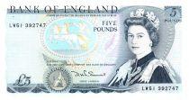 Reino Unido 5 Pounds ND1984-86 - Elizabeth II, Duke of Wellington