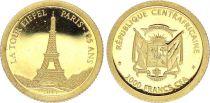 Rép. Centrafricaine 10000 Francs - 125 Ans de la Tour Eiffel - 2014 - Or