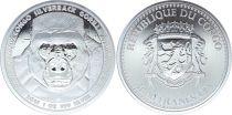 Repubblica del Congo 5000 CFA Gorilla - Oz Silver 2016