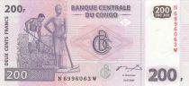 República Democrática del Congo 200 Francs 2000 - Farmers, men and river - HdM