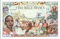 République Centrafricaine 5000 Francs  Union Douanière - 1980