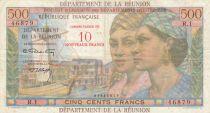 Réunion 10 NF / 500 Francs 1971 - P.54b - VF
