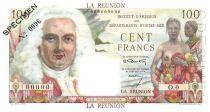 Réunion 100 Francs La Bourdonnais - 1946 Specimen O.0
