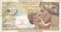 Réunion 20 NF / 1000 Francs - 1967 Serial Q.2 - P.55