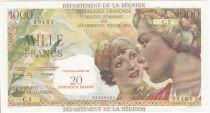 Réunion 20 NF / 1000 Francs Union Française - 1967 Série C.3