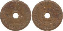 Rhodesia and Nyasaland ½ Penny 1956 - Coat of arms, giraffes