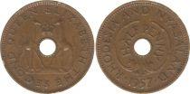 Rhodesia and Nyasaland ½ Penny 1957 - Coat of arms, giraffes