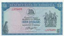 Rhodésie 1 Dollar  Armoiries - Champs de Tabac  - 1979