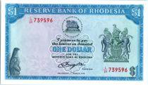 Rhodésie 1 Dollars  Armoiries - Champs de Tabac  - 1976