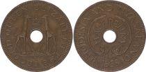 Rhodésie et Nias. ½ Penny 1958 - Armoiries, girafes - 2 em