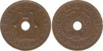 Rhodésie et Niassanland ½ Penny 1955 - Armoiries, girafes