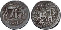 Roma Republic Denarius,  Aemilia 58 BC Rome - F