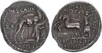 Roma Republic Denarius,  Aemilia 58 BC Rome - F to VF