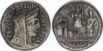 Roma Republic Denarius,  Aemilia 62 BC Rome - VF