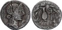 Roma Republic Denarius,  Caecilia 81 BC Rome - F