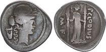 Roma Republic Denarius,  Claudia 42 BC Rome - F