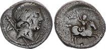 Roma Republic Denarius,  Crepusia 82 BC Rome - F