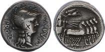 Roma Republic Denarius,  Manlia 82 BC Rome - F+