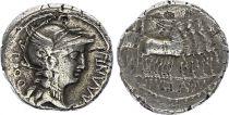 Roma Republic Denarius,  Manlia 82 BC Rome - VF+