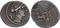 Roma Republic Denarius,  Plautia 60 BC Rome - F+