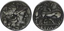Roma Republic Denarius,  Pompeia 137 BC Rome - VF