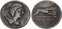 Roma Republic Denarius,  Postumia 74 BC Rome - VF