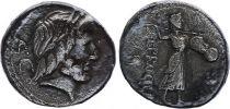 Roma Republic Denarius,  Procilia 80 BC Rome - F to VF