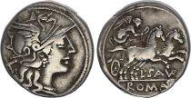 Roma Republic Denarius,  Saufeia 152 BC Rome - VF+