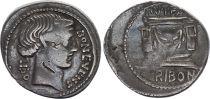 Roma Republic Denarius,  Scribonia 62 BC Rome - F to VF