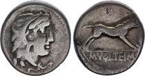 Roma Republic Denarius,  Volteia 78 BC Rome - F