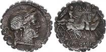 Roma Republic Denarius Serratus,  Naevia 79 BC Rome - F+