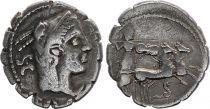 Roma Republic Denarius Serratus,  Procilia 80 BC Rome - F+