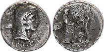Roma Republic Denarius Serratus,  Roscia 64 BC Rome - F+