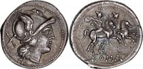 Roma Republic Denier,  Anonymous  - 211 BC Rome
