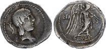 Roma Republic Quinarius,  Calpurnia 90 BC Rome - F+