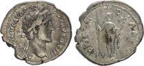 Roman Empire Denarius,  Antoninus Pius - 141 Rome - CONCORDIA AVG - F+