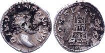 Roman Empire Denarius,  Antoninus Pius- 161 Rome