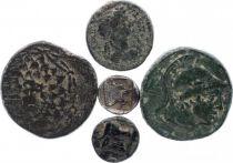 Roman Empire Lot of 5 Greek coins in bronze