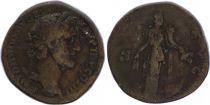 Roman Empire Sestertius,  Antoninus Pius - 142 Rome - ANNONA AVG - F
