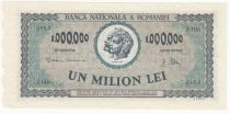 Romania 1000000 Lei 1947 - Trajan and Decebal - Farmers, women and child