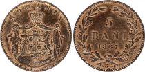 Romania 5 Bani Armoiries -1867 H