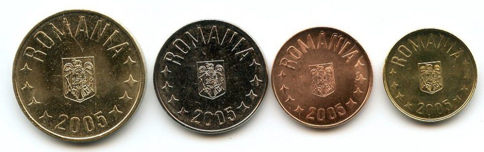 Romania SET.1 Set of 4 coins Arms
