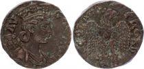 Rome - Provinces 1 As, Alexandrie (Troade) - Tychè, Aigle Tête à Droite (250-268)