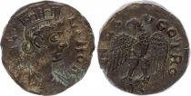 Rome (Provinces) 1 As, Alexandria (Troade) - Tyche, Eagle head at left (250-268)