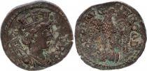 Rome (Provinces) 1 As, Alexandrie (Troade) - Tychè, Aigle Tête à Droite (250-268)