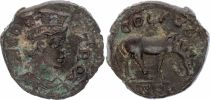 Rome (Provinces) 1 As, Alexandrie (Troade) - Tychè, Cheval (250-268)