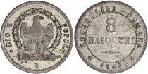 Rome 8 Baiocchi - Roman Republice -1849 R